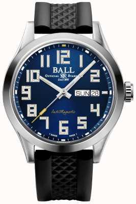 Ball Watch Company Ingénieur iii starlight | bracelet en caoutchouc noir | cadran bleu | NM2182C-P12-BE1