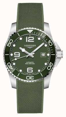 Longines Hydroconquête 41mm | cadran vert | bracelet en caoutchouc L37814069