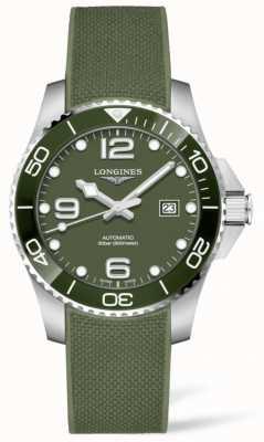 Longines Hydroconquête 43mm | cadran vert | bracelet en caoutchouc L37824069