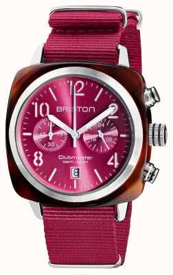 Briston Clubmaster classique   chronographe   19140.SA.T.28.NBER