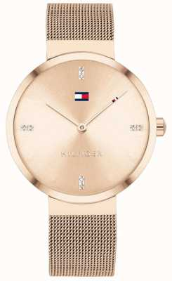 Tommy Hilfiger Liberty | bracelet en maille en or rose | cadran en or rose 1782218