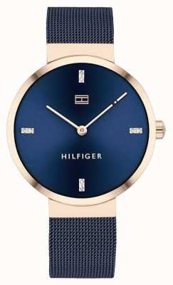 Tommy Hilfiger Liberty | bracelet en maille bleue | cadran bleu | 1782219