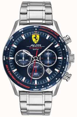 Scuderia Ferrari | pilota evo pour hommes | bracelet en acier inoxydable | cadran bleu 0830749
