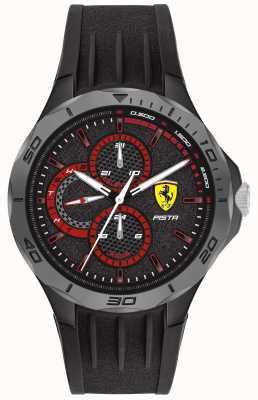 Scuderia Ferrari | pista pour hommes | bracelet en caoutchouc noir | cadran noir 0830725