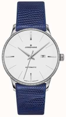 Junghans Meister dames automatique en cuir bleu 027/4046.00