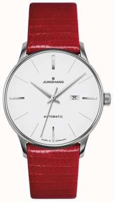 Junghans Meister dames automatique en cuir rouge 027/4044.00
