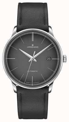 Junghans Meister automatique cadran noir en cuir noir 027/4051.00