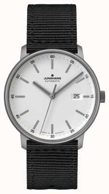 Junghans Formez un | titan | automatique | bracelet nato noir | cadran blanc 027/2000.00