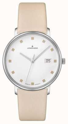 Junghans Bracelet en cuir avec fenêtre de date damen 047/4860.00