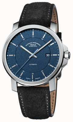 Muhle Glashutte 29er occasionnel | bracelet en cuir noir | cadran bleu M1-25-72-LBGRAU
