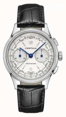 Certina Ds | chronographe | automatique | bracelet en cuir noir C0384621603700