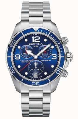 Certina Ds action chrono | chronomètre | bracelet en acier inoxydable C0324341104700