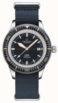 Certina Ds ph200m | automatique | lunette en céramique | bracelet nato bleu C0364071804000