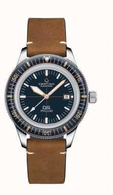 Certina Ds ph200m | automatique | lunette en céramique | bracelet en cuir marron C0364071604000