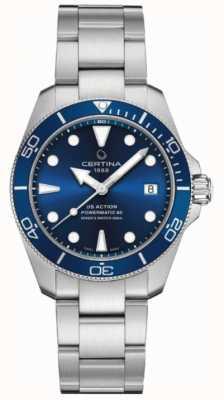 Certina Ds action diver | 38mm | powermatic 80 | acier inoxydable C0328071104100