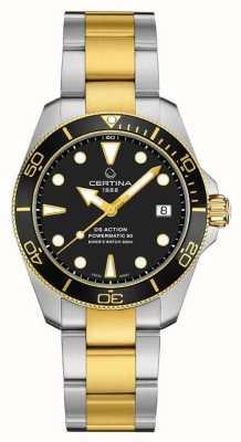 Certina Ds action diver | 38mm | powermatic 80 | deux tons C0328072205100