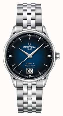 Certina Ds-1 grande date | powermatic 80 | bracelet en acier inoxydable C0294261104100