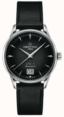 Certina Ds-1 grande date | powermatic 80 | bracelet en cuir noir C0294261605100