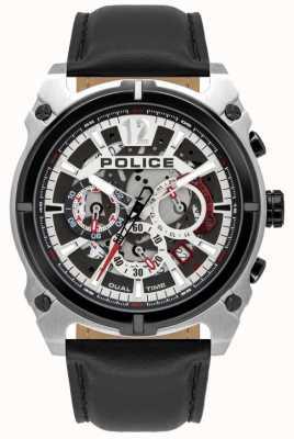 Police Antrim pour hommes | chronographe | bracelet en cuir noir 16020JSTB/04