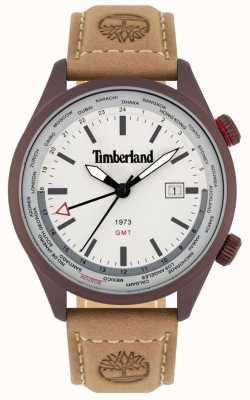 Timberland Hommes | malden | gmt | bracelet en cuir marron | cadran crème 15942JSBN/13