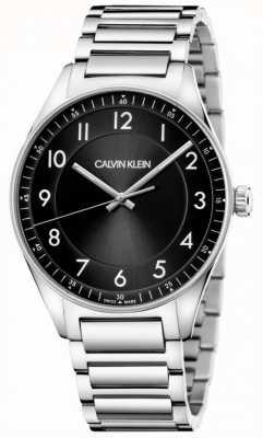 Calvin Klein | lumineux | bracelet en acier inoxydable | cadran noir KBH21141