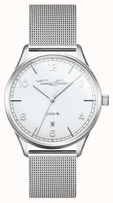 Thomas Sabo | glam et soul | bracelet femme en maille d'acier | cadran argenté WA0360-201-202-36