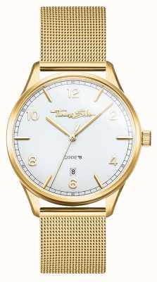 Thomas Sabo | glam et soul | bracelet en maille d'or pour femme | cadran blanc WA0361-264-202-36