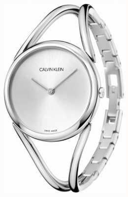 Calvin Klein | dame | bracelet en acier inoxydable | cadran argenté | KBA23126