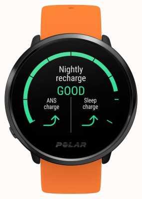 Polar | s'enflammer | bracelet en caoutchouc orange | moniteur de fréquence cardiaque gps | m / l 90081718