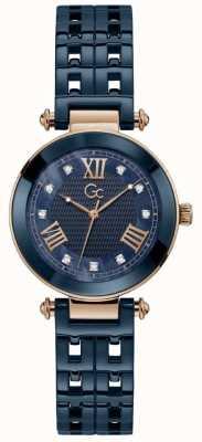 Gc Mens Gc 1 Sport Chronographe Bleu Bracelet En Silicone