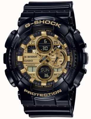 Casio Heure mondiale G-shock | bracelet en caoutchouc noir | GA-140GB-1A1ER