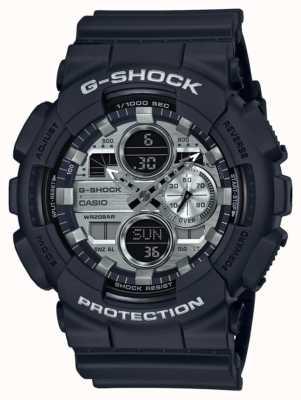 Casio | heure mondiale g-shock | caoutchouc noir | cadran noir GA-140GM-1A1ER