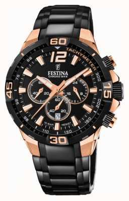 Festina Chrono Bike 2020 cadran arrière bracelet en acier noir F20525/1