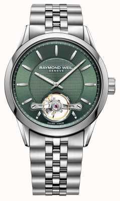 Raymond Weil Hommes | pigiste | automatique | cadran vert | 2780-ST-52001