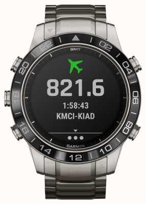 Garmin Marq aviator | bracelet en titane et bracelet en caoutchouc noir 010-02006-04