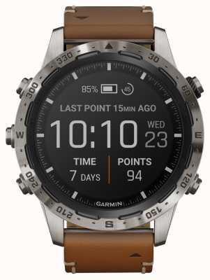Garmin Aventurier Marq | bracelet en cuir marron et caoutchouc noir 010-02006-27