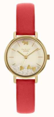 Radley Coeurs d'amour des femmes | bracelet en cuir rouge | cadran crème RY2988