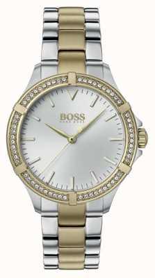 BOSS | mini sport féminin | bracelet en acier bicolore | cadran argenté 1502467
