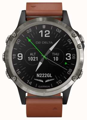 Garmin Aviateur D2 delta | bracelet en cuir marron 010-01988-31