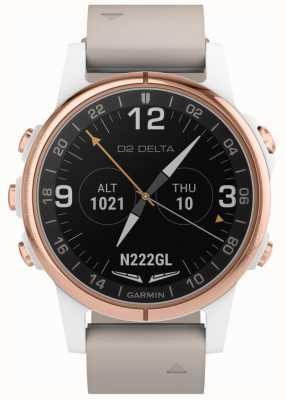 Garmin Aviateur D2 delta s | bracelet en cuir beige 010-01987-31