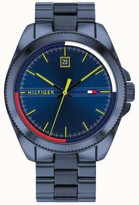 Tommy Hilfiger Riley | bracelet en acier ip bleu | cadran bleu 1791689