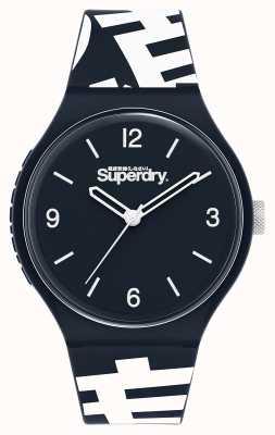 Superdry Urban xl | bracelet en silicone bleu | cadran bleu SYG294UW
