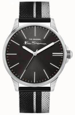 Ben Sherman   bracelet maille acier bicolore pour homme   cadran noir BS032BSM