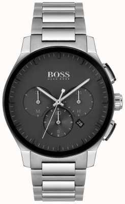 BOSS | pic des hommes | bracelet en acier inoxydable | cadran noir | 1513762