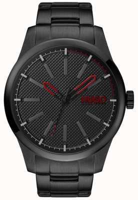 HUGO #invent | bracelet en acier noir | cadran noir 1530148