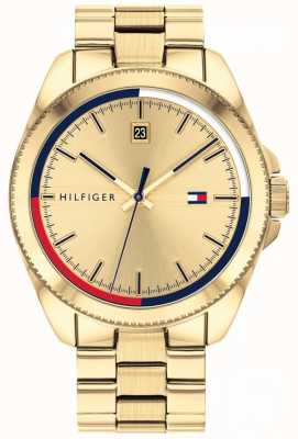 Tommy Hilfiger Riley | bracelet en acier ip or | cadran en or 1791686