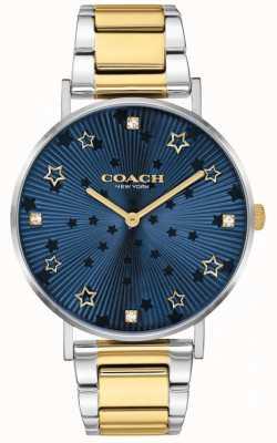 Coach | poiré des femmes | bracelet en acier bicolore | cadran étoile bleu 14503523