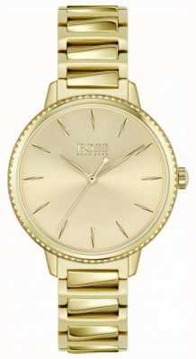 BOSS | signature des femmes | bracelet en acier plaqué or | cadran en or 1502541
