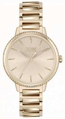 BOSS Signature femme | bracelet en acier or rose | cadran or rose 1502540