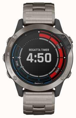 Garmin Quatix 6 saphir | montre marine gps bracelet gris titane 010-02158-95
